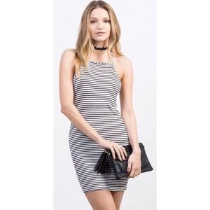 Mossimo Striped Square Neck Dress